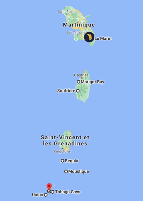 Itinéraire croisière Martinique