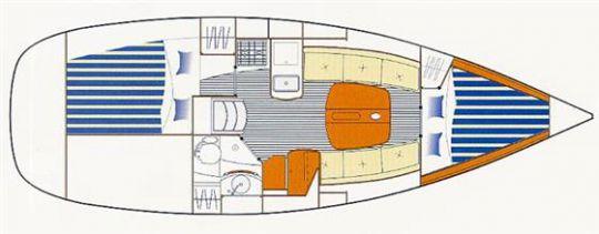 plan intérieur First 31.7 |