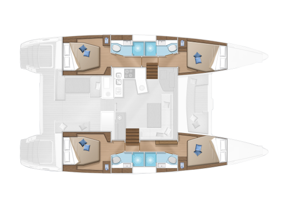 Plan Lagoon 450 F  