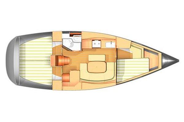 Plan intérieur Dufour 365 |