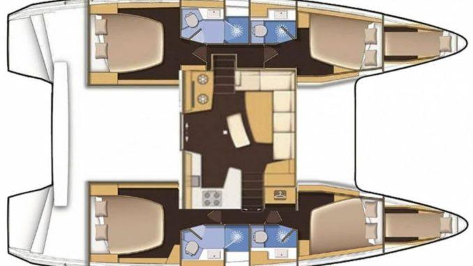 Plan intérieur Lagoon 42 |