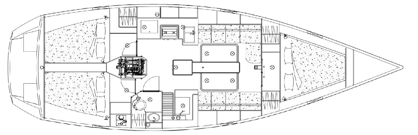 plan intérieur Ovni 395 |