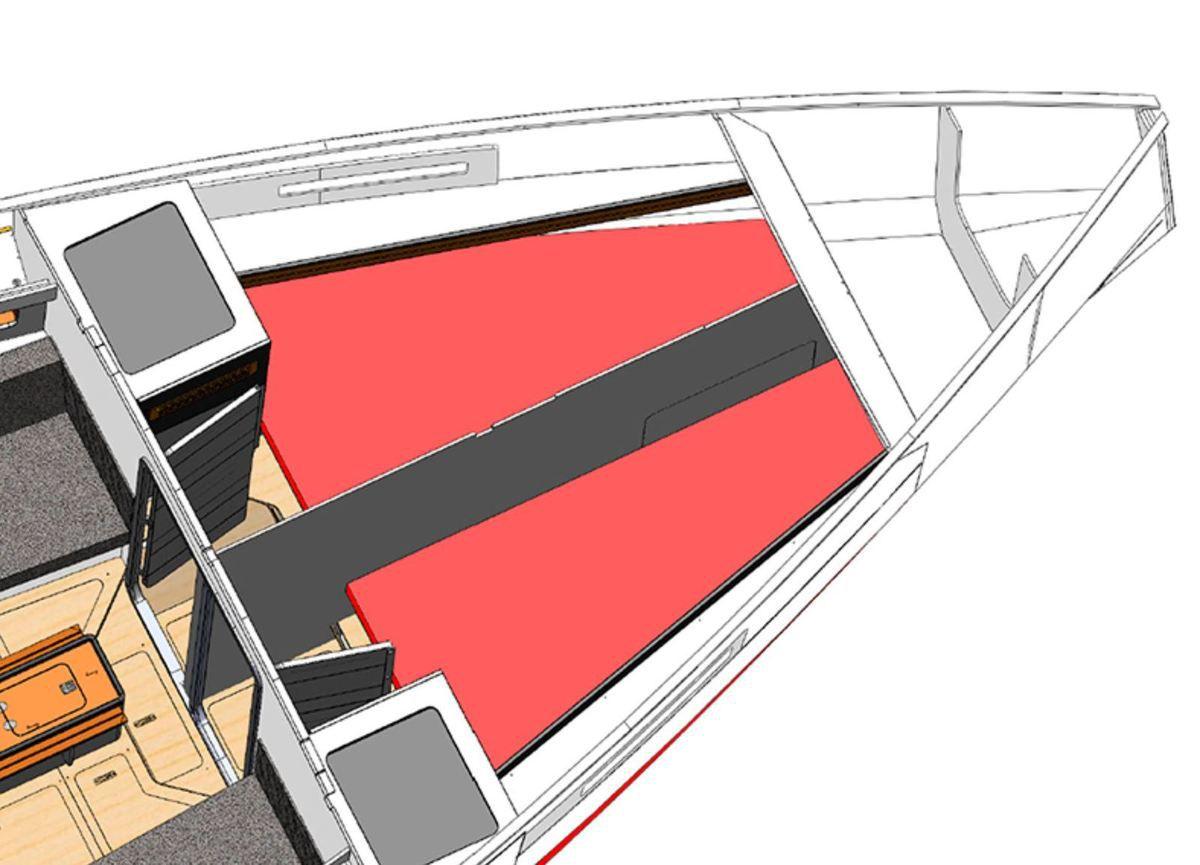 Plan intérieur RM 12.70 4 cabines |